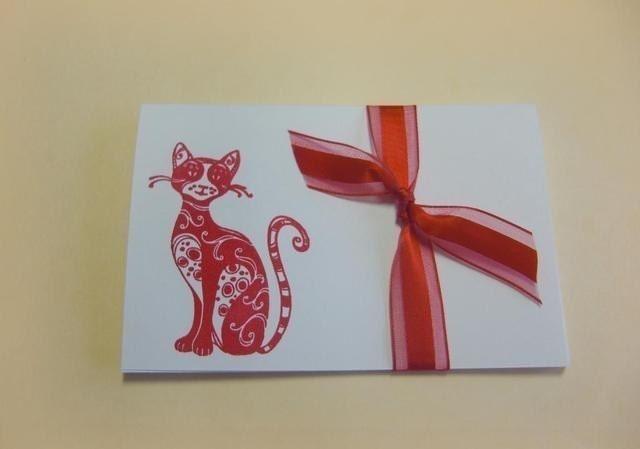 Fabulous Feline-  blank cards( Set of 4)