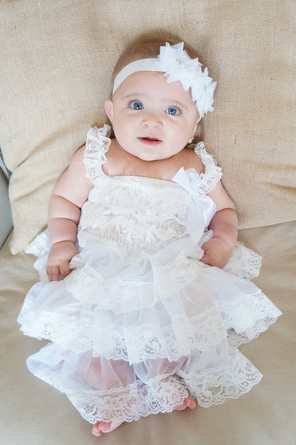 Lace baptism Dress White Baptism Dress by PoshPeanutKids
