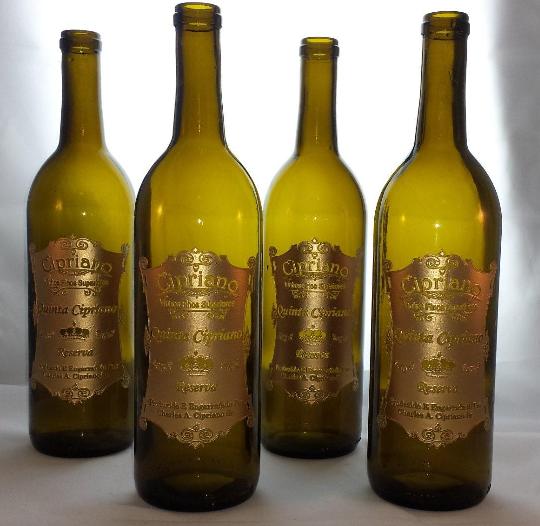 Engraved Wine Bottles For Wedding Gift : Personalized Wine Label Engraved Wine Bottle by ImpressionByBarone