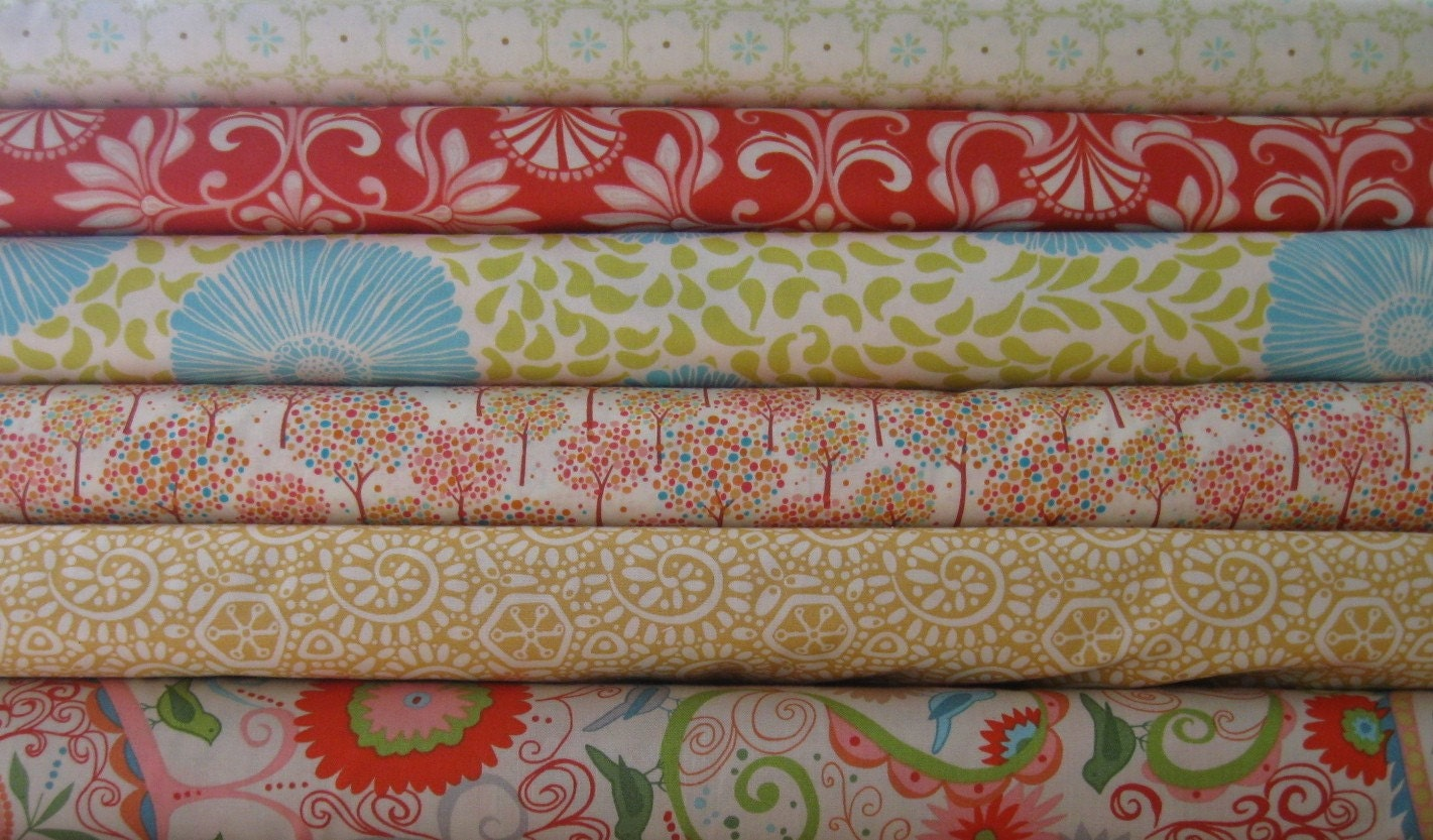 Spring Has Sprung Fabric Bundle, Half Yard of each-3 yards total