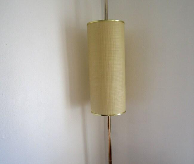 danish modern mid century modern tension pole lamp by. Black Bedroom Furniture Sets. Home Design Ideas