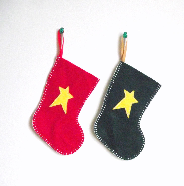 Items similar to mini felt christmas stocking tree for Felt stocking decorations