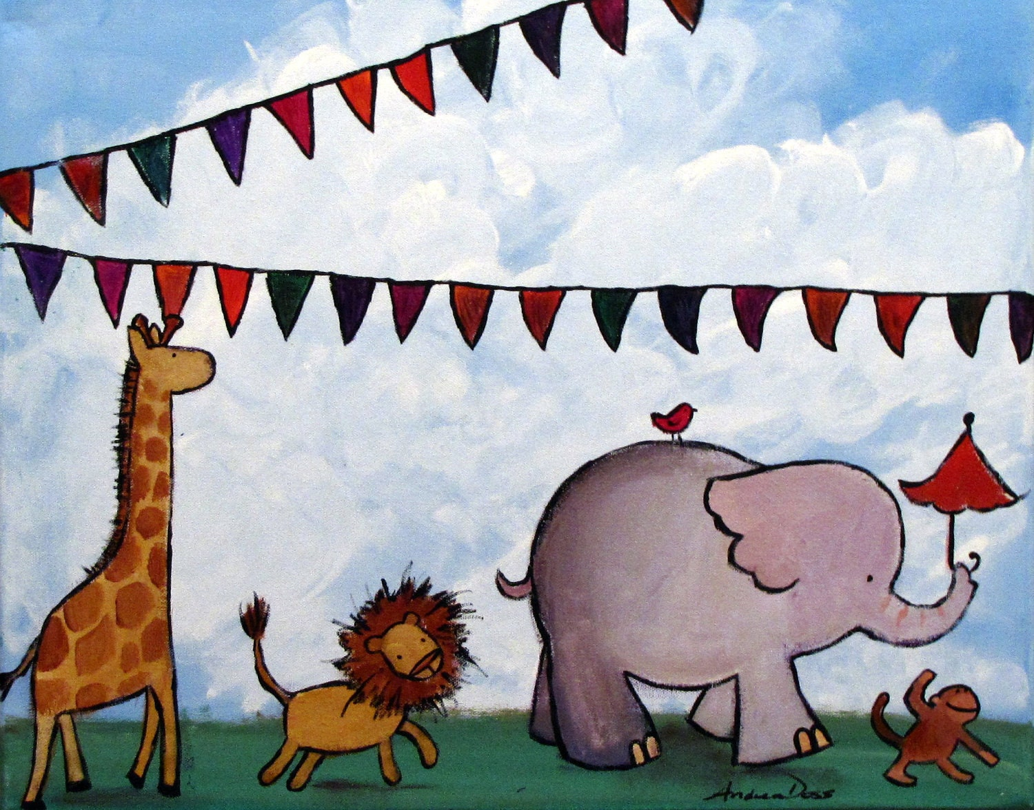 gallery of zoo painting for kids