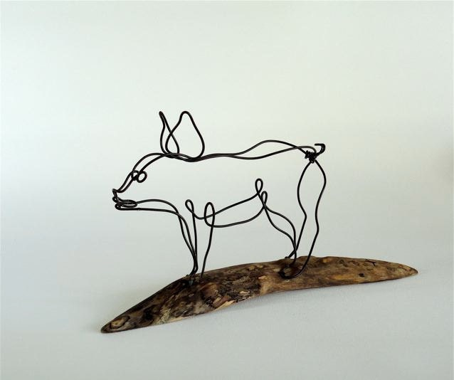 Pig Wire Sculpture