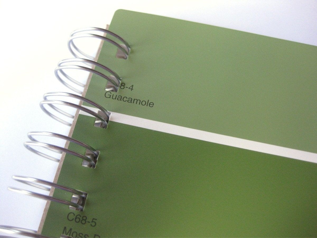 Paint Sample Notebook in Shades of Green