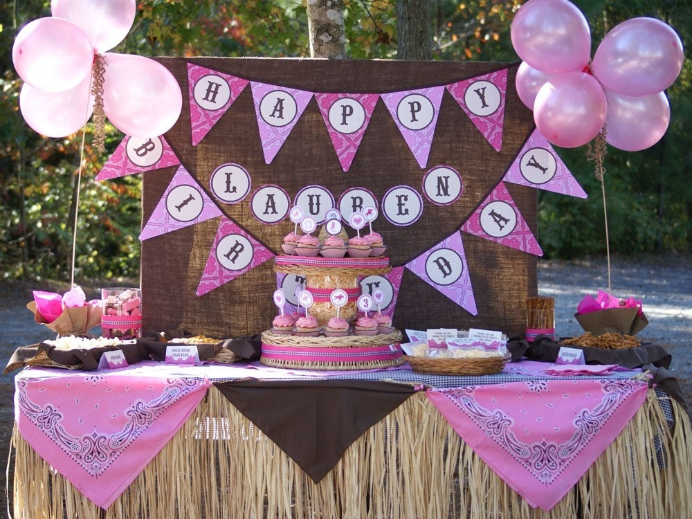 Custom Happy Birthday Banner Design - Coordinate Colors, Fonts and Design with Your Party