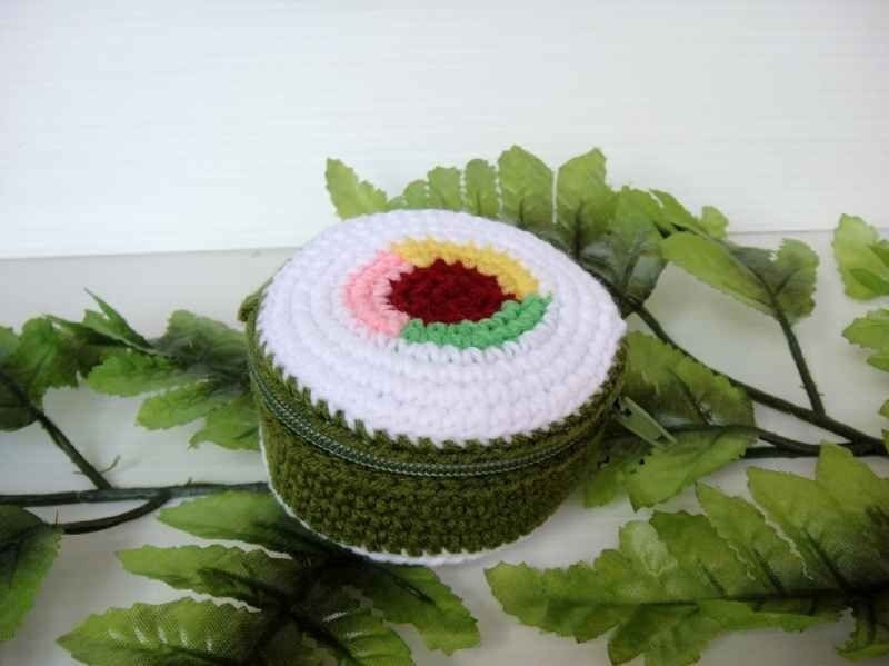 Crochet Food Purse - SUSHI