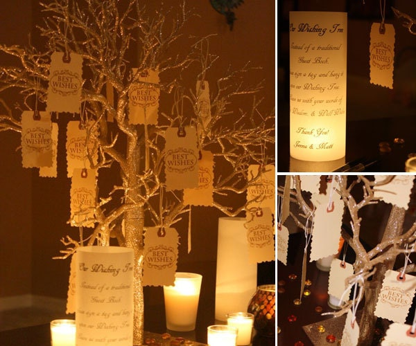Diy Rustic Wedding Wish Tree: Wishing Tree Guest Book Alternative Centerpiece By