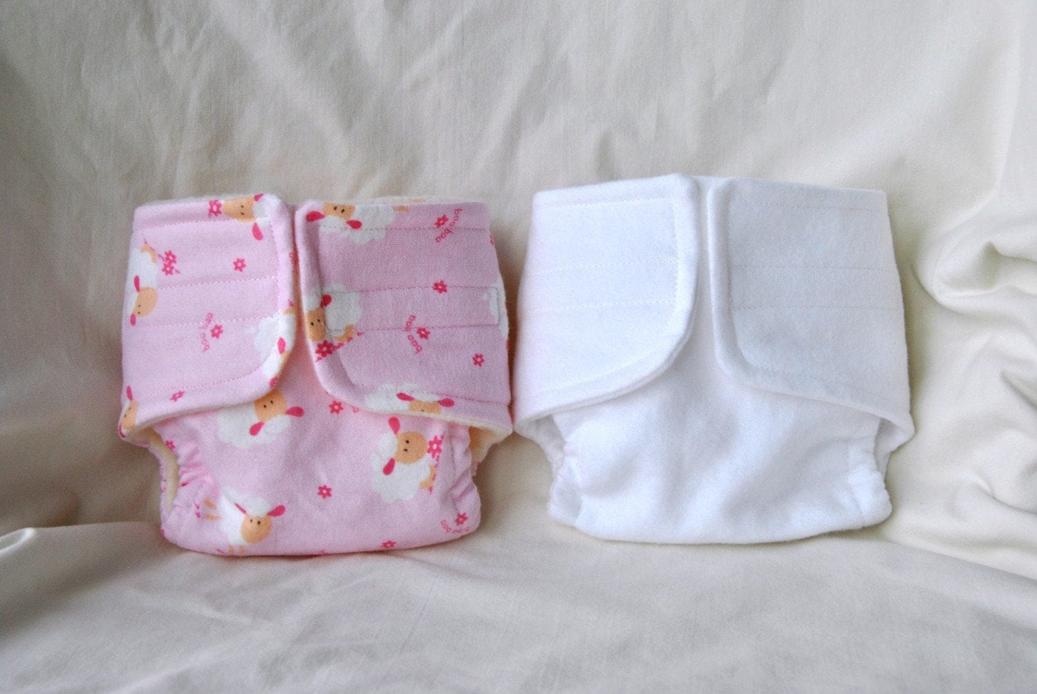 Baby Doll Cloth Diaper Set Of Two Diapers Pink By