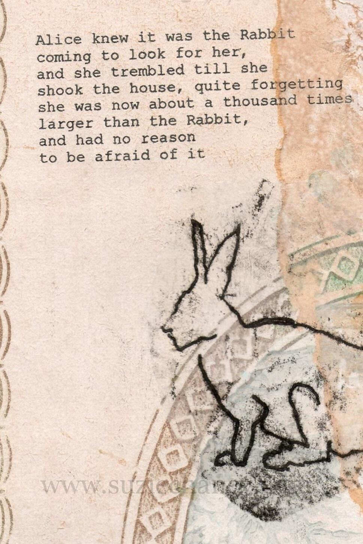 Alice White Rabbit Print