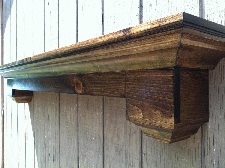 floating wall shelf fireplace mantel
