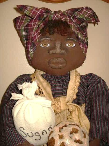 Handmade Primitive Black Mammy Doll Toaster Cover By