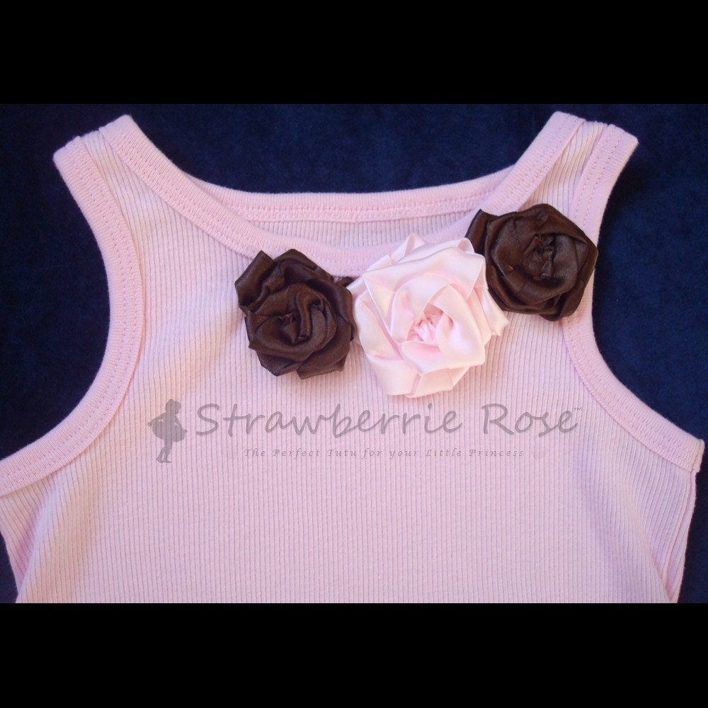 Chic Pink and Chocolate Posh Tank Top Tee, All Sizes