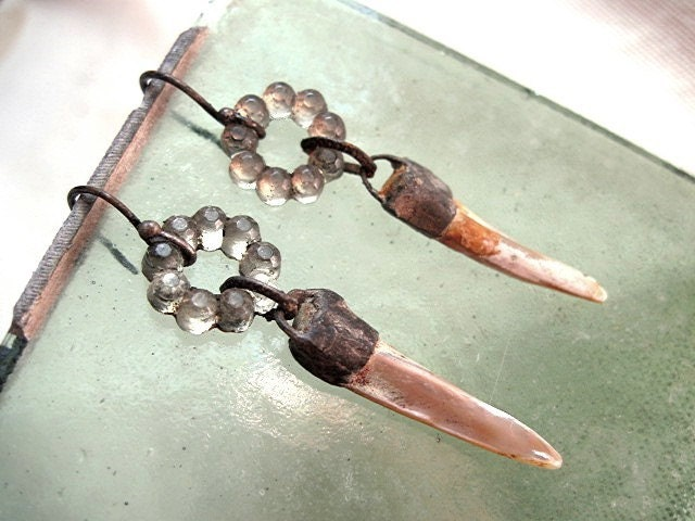 The Alchemy of Happiness.  Soldered MOP Dagger and Rhinestone.