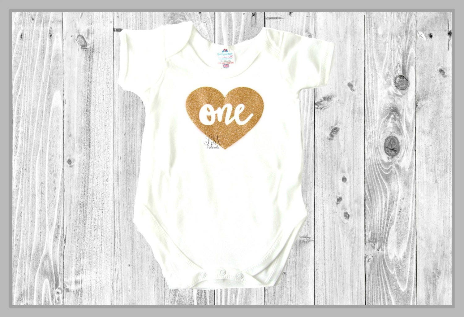 Rose Gold One Heart Glitter Baby Bodysuit  1st birthday outfit baby outfit glitter bodysuit cake smash outfit heart birthday