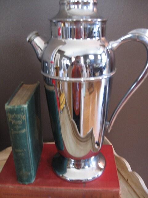vintage silver cocktail shaker