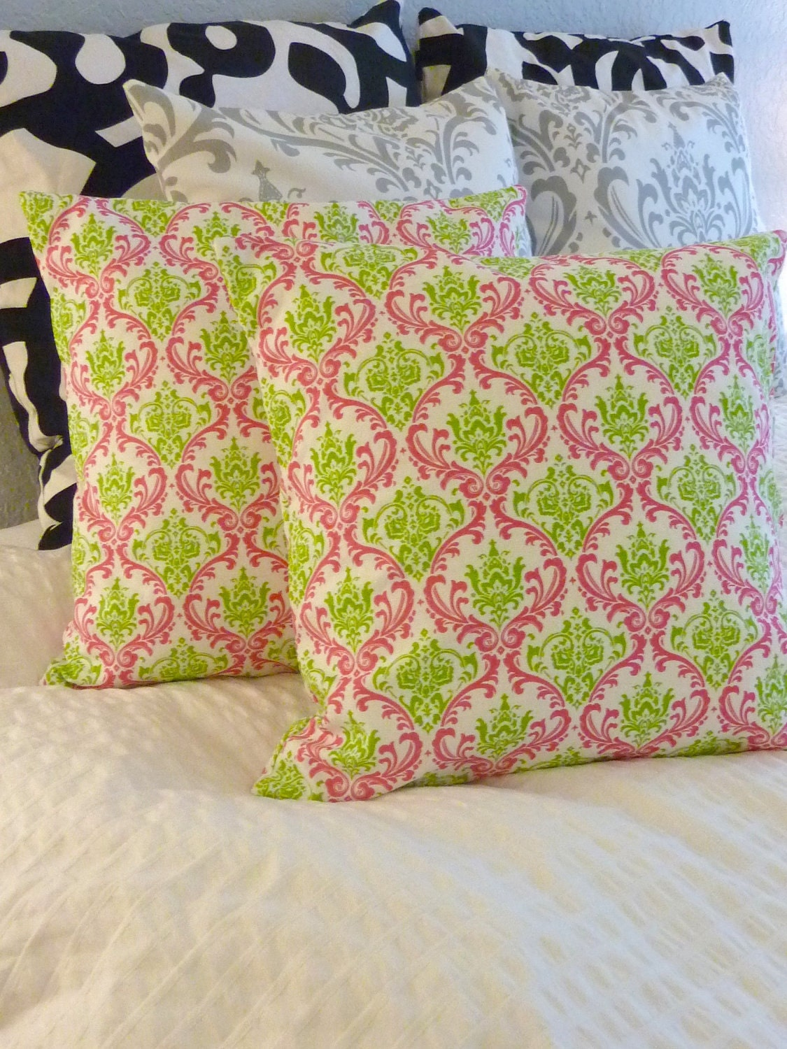 Decorative Pillows Cover- Premier Prints- Madison Candy Pink -  TWO 16x16