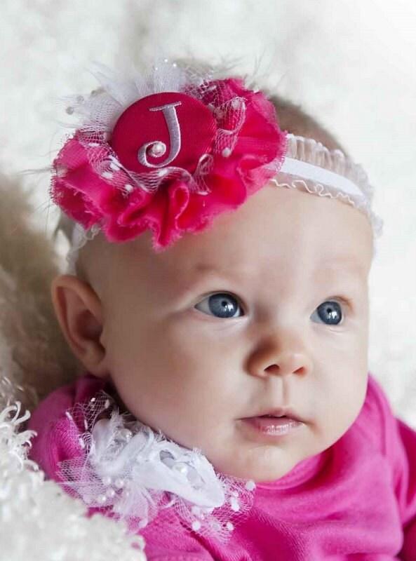 Monogrammed Baby Headband