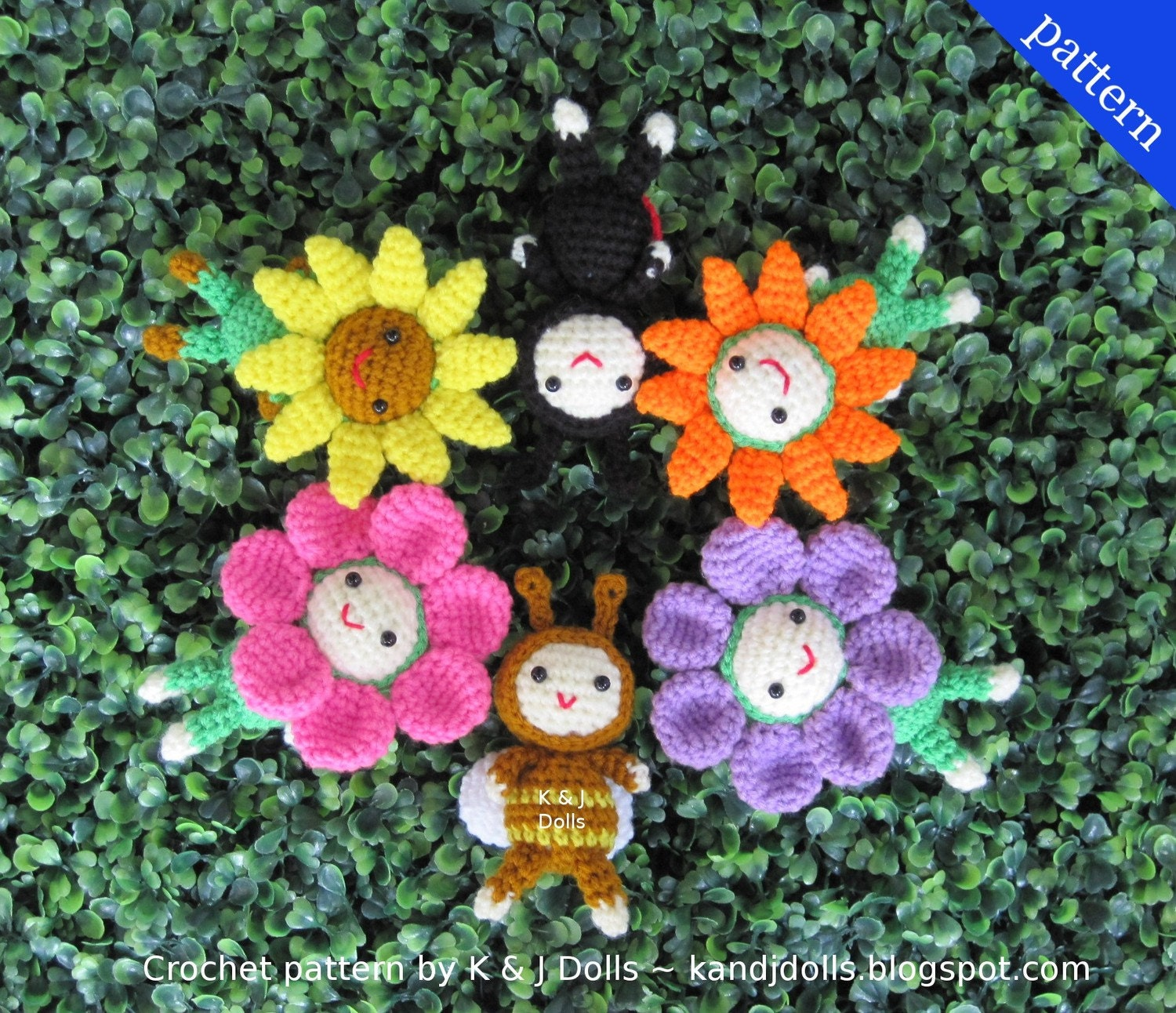 Flowers and Bugs PDF Amigurumi crochet pattern