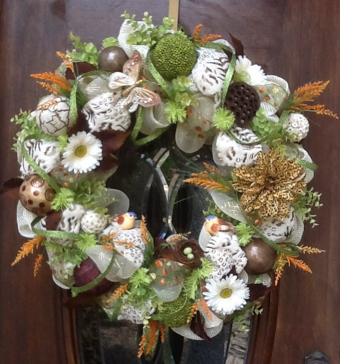 items similar to large all year round jan 39 s wreath on etsy