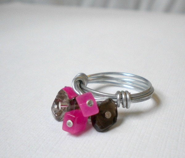 ot-pink-black-cluster-ring-wire-wrapped