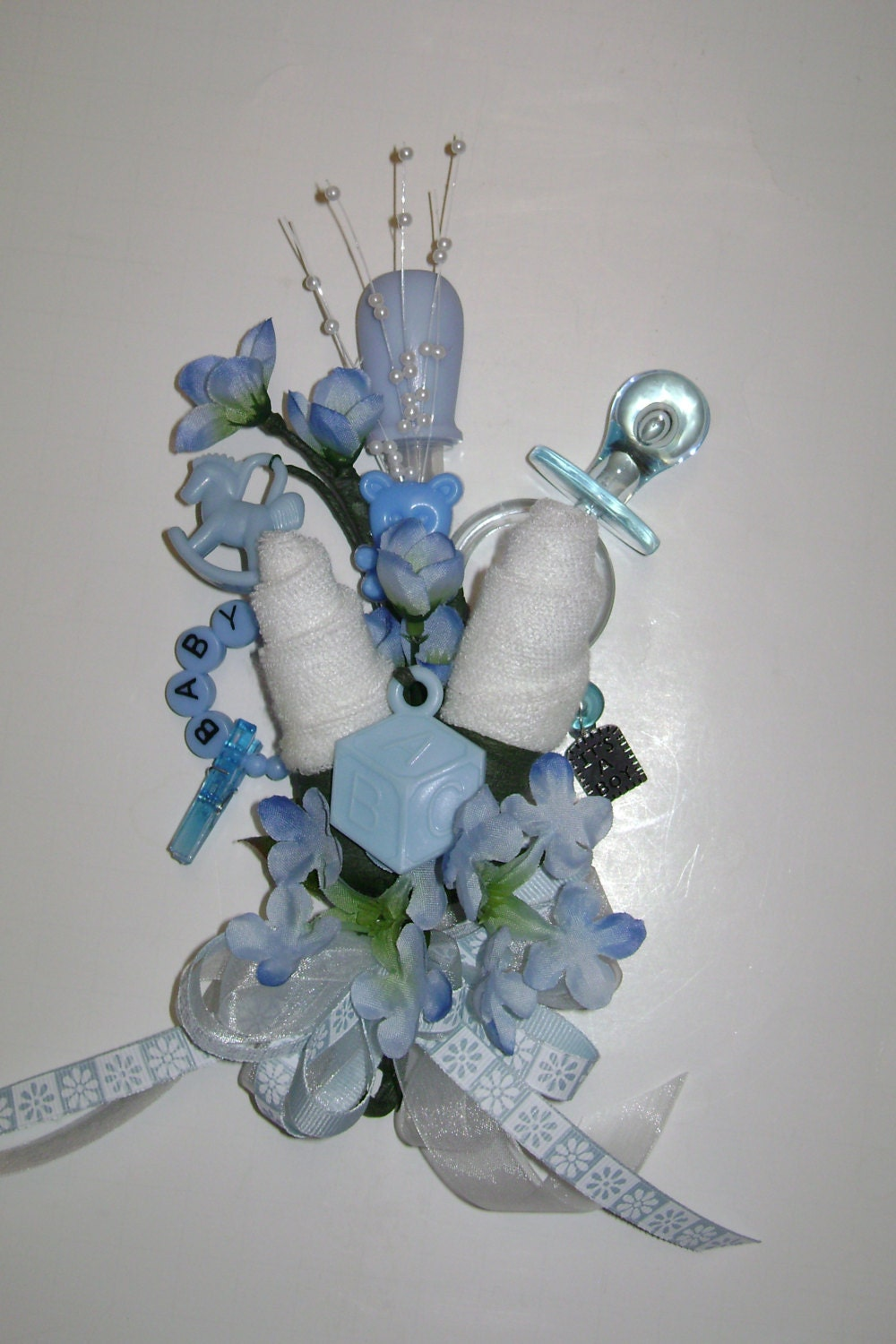 baby shower corsage baby boy corsage new mom corsage reusable baby