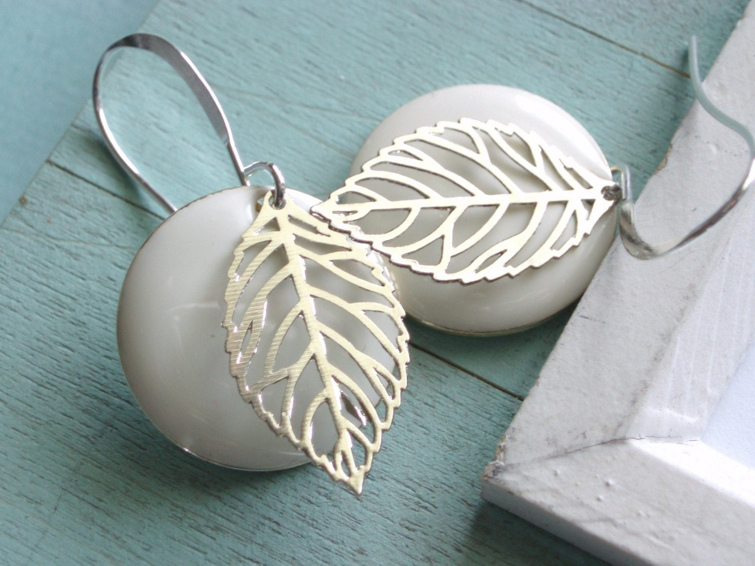 Frosty Leaf Earrings