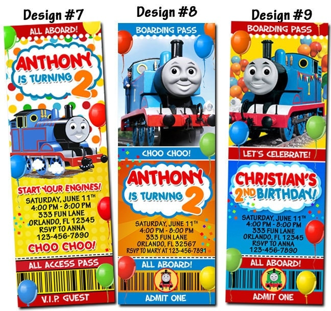 thomas the train and friends birthday party photo by funinvitez