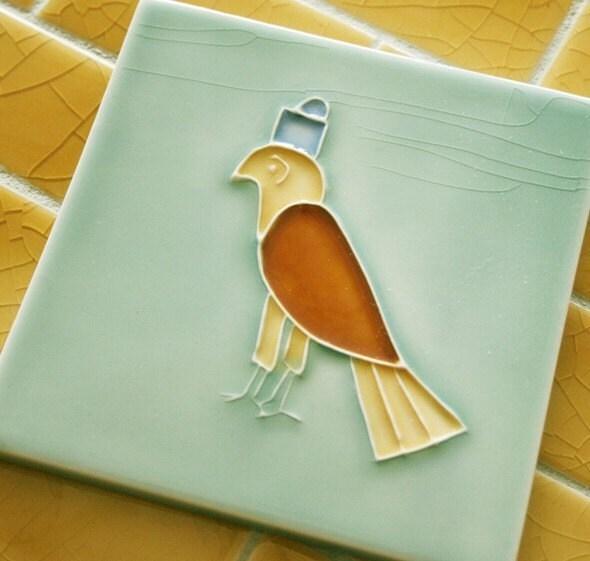 Horus God Of Egypt Tile