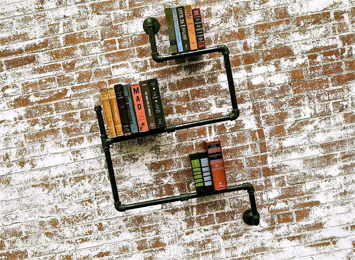 Bookshelf Industrial Pipe Level 2