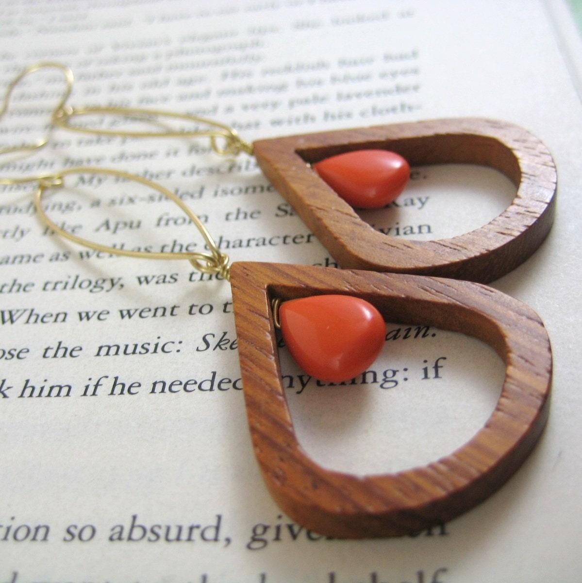 SALE wooden dangles (earrings)