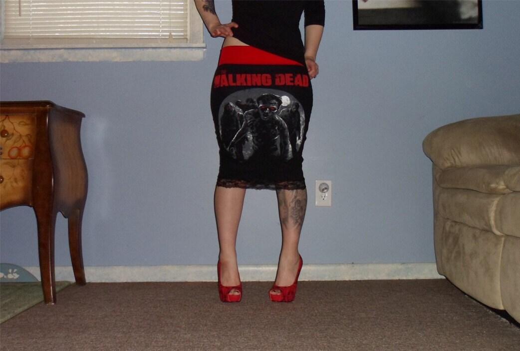 the walking dead pencil skirt by l0veinva1n on etsy