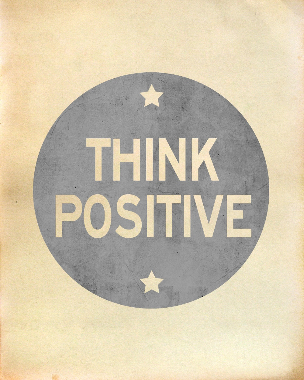 Think Positive - Artistic Word Print