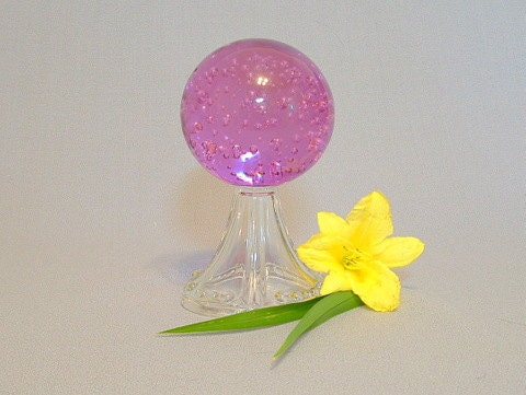 Gazing ball for small spaces.  Paperweight.  Crystal ball.