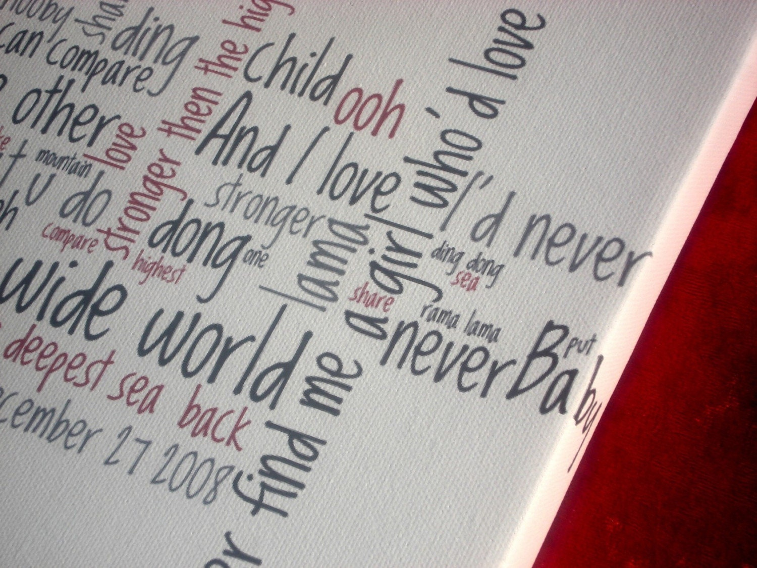 Wedding Song Custom Canvas 9x12
