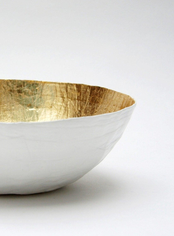 White Gold Paper Mini Bowl