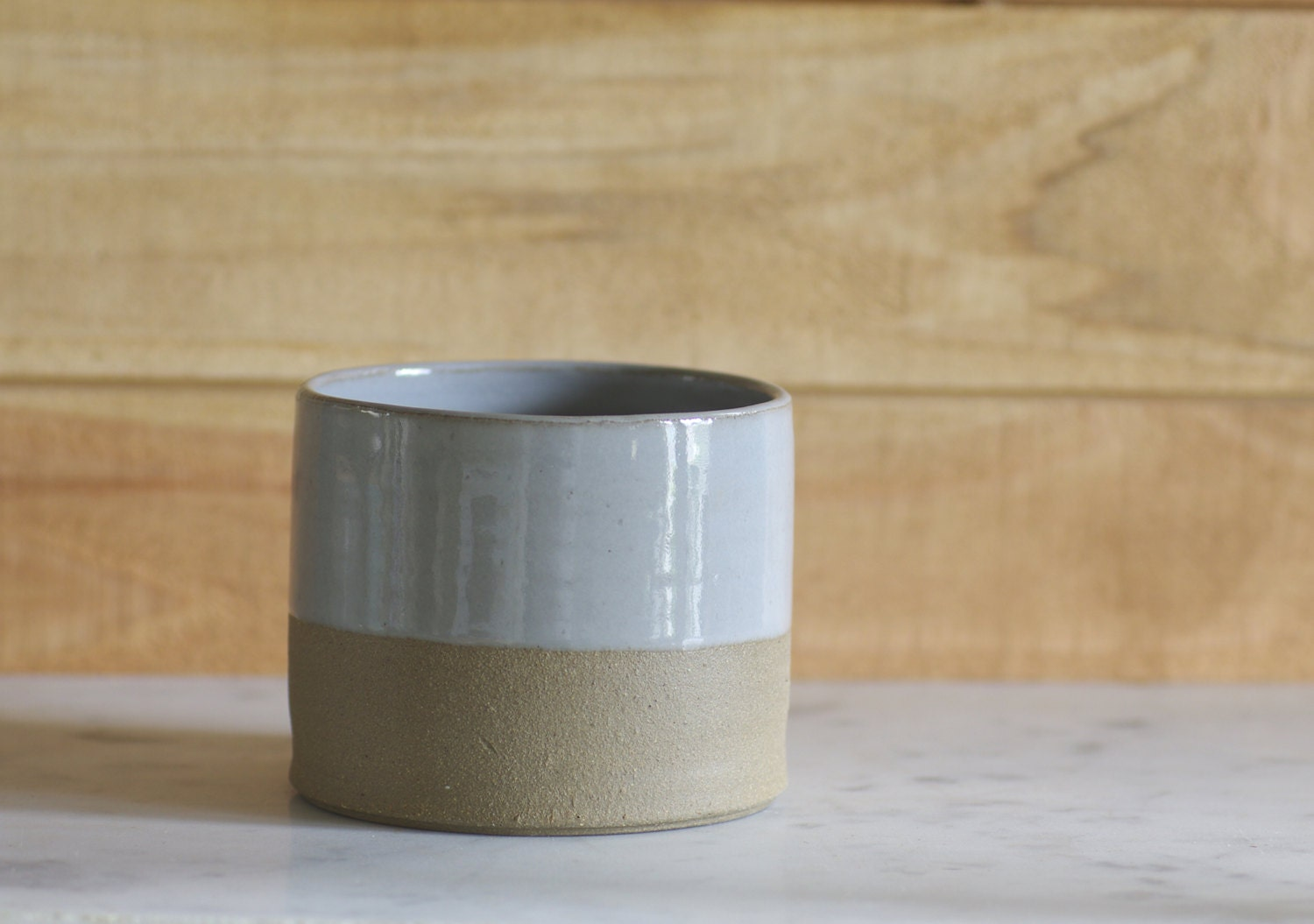 modern cup grey stoneware with grey glaze minimal rustic simple ceramic - vitrifiedstudio