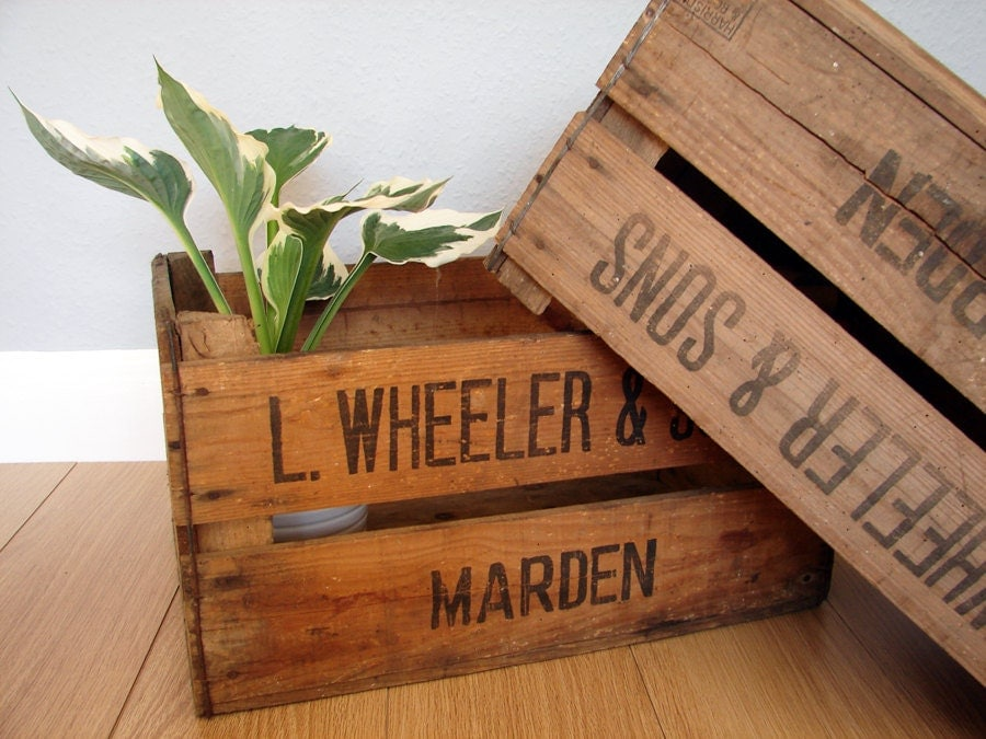 British vintage wooden apple crates storage by emmalovesxxx for How to make apple crates