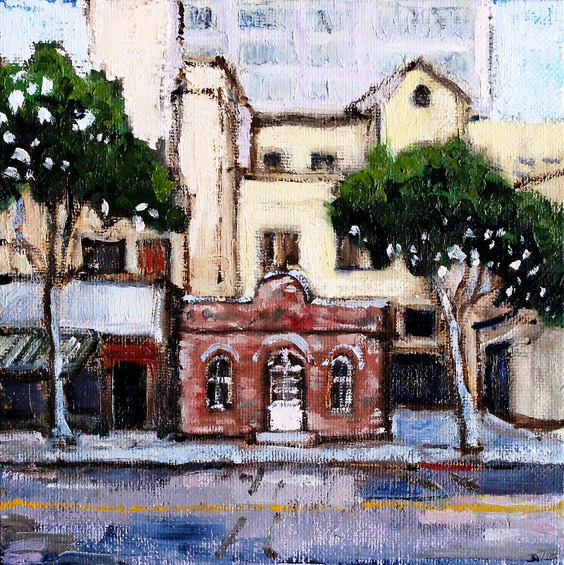 Rapp Saloon, Santa Monica California Painting