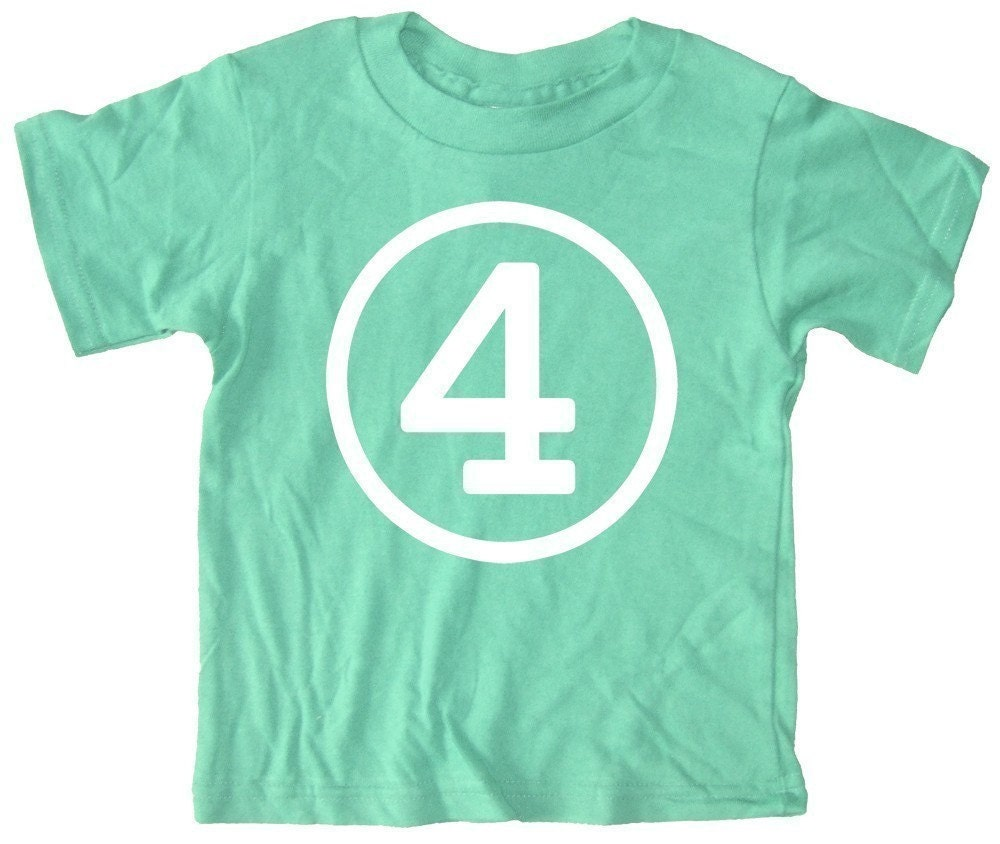 Children's Number t shirt