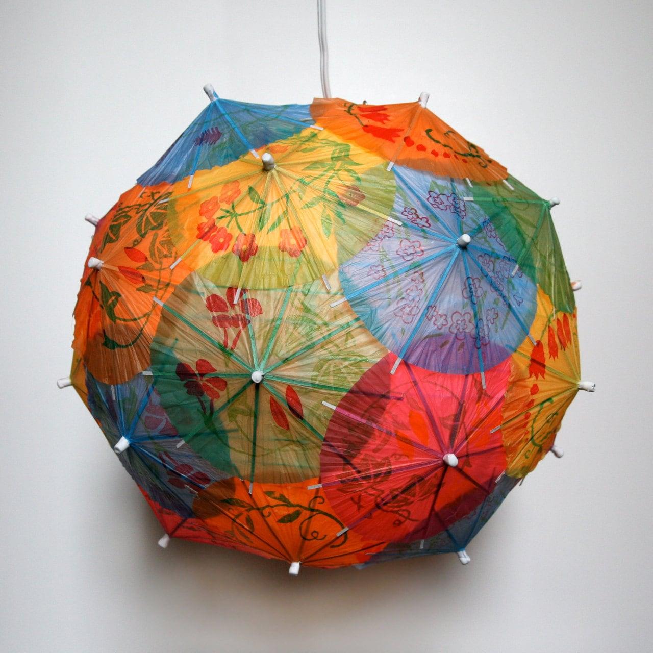 Коктейль зонтик подвеска свет - тень только