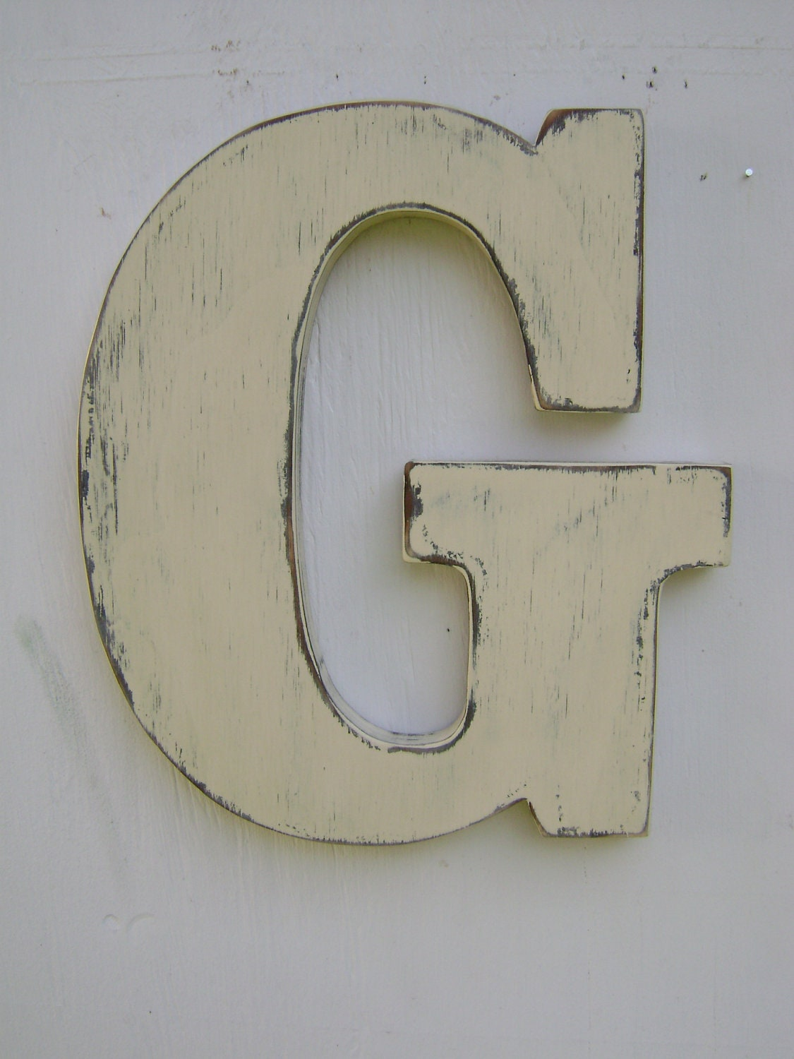 Wooden letters rustic wall hanging initals Letter G, Hanging Wood ...