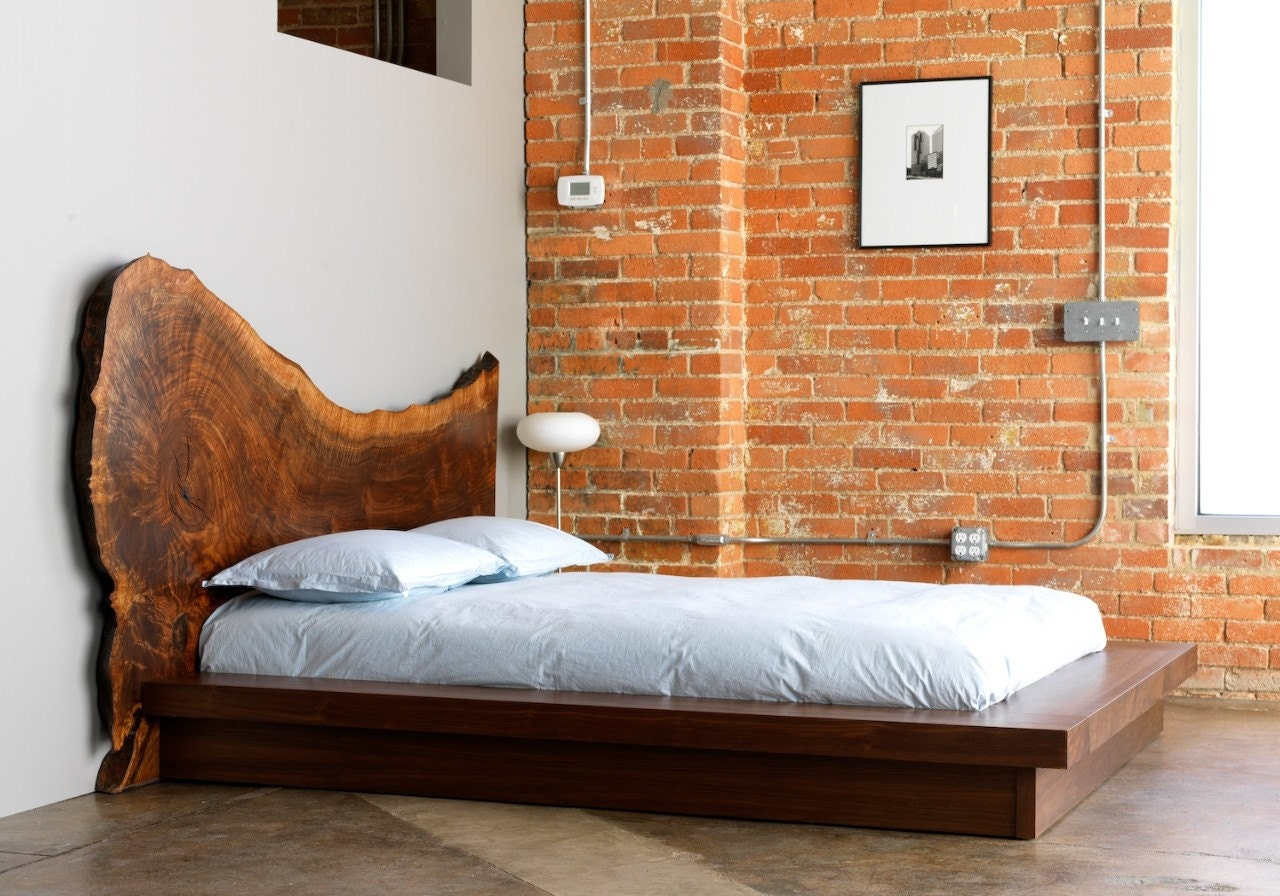 Reclaimed Wood Headboard Bed