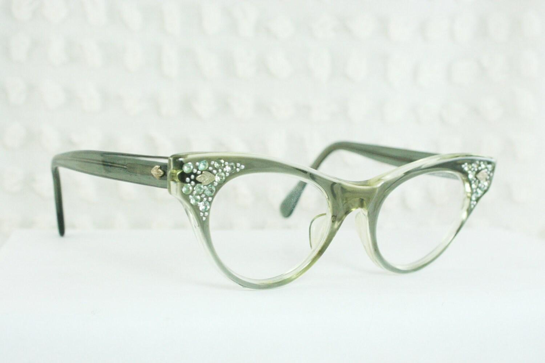 Vintage 50s Cat Eye Glasses 1960s Womens Eyeglasses by ...