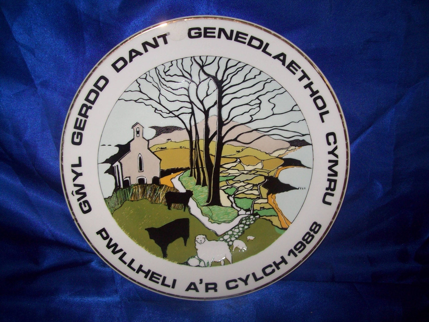 Welsh Made China Plate Wales National Singing Music Festival Pwllheli and Surrounding Area 1988