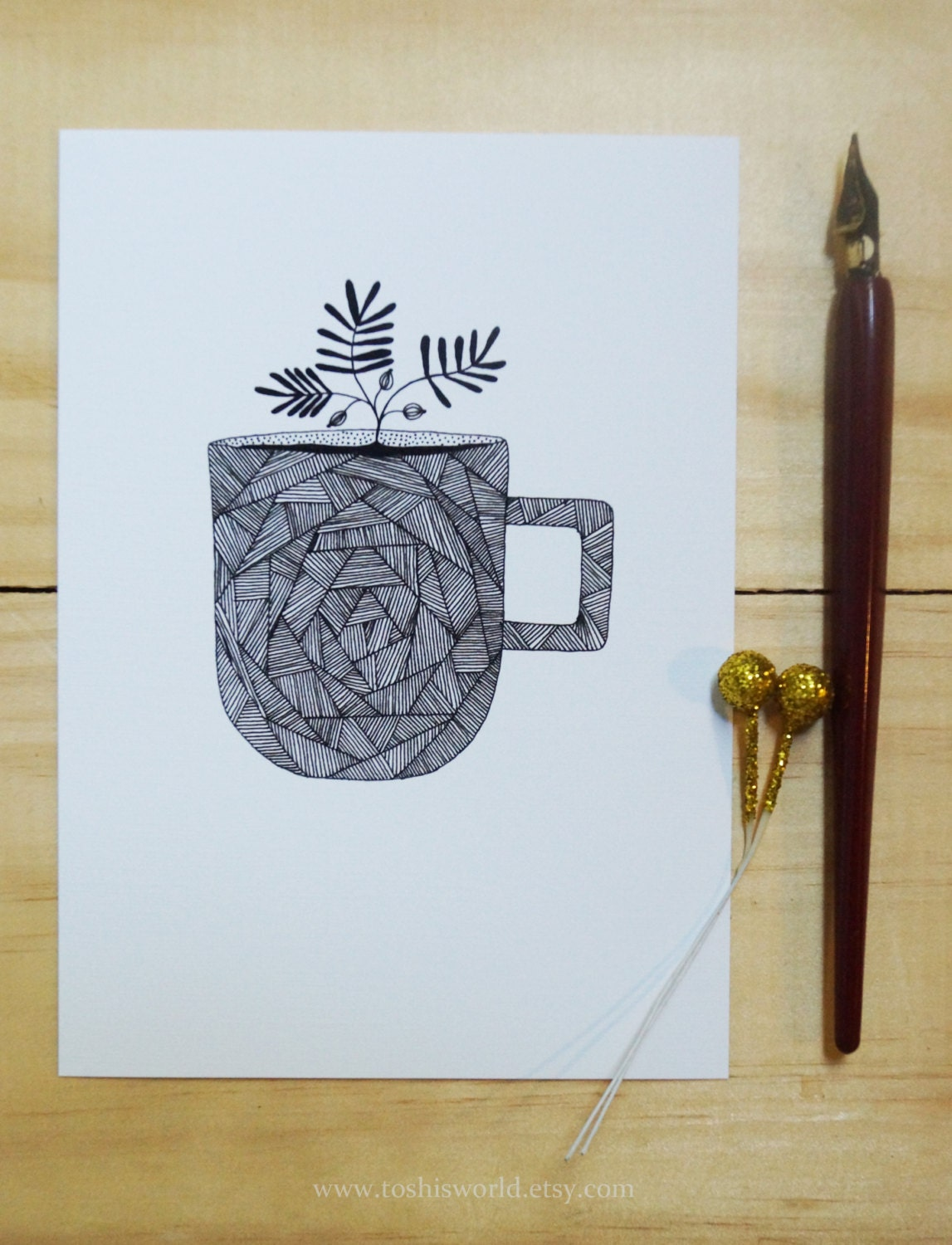 Cup. Illustration. 100 cup project - Toshisworld