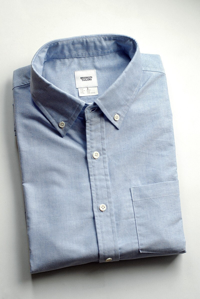 Men's Shirt - Cambridge Oxford in Light Blue STYLE No. BKT10