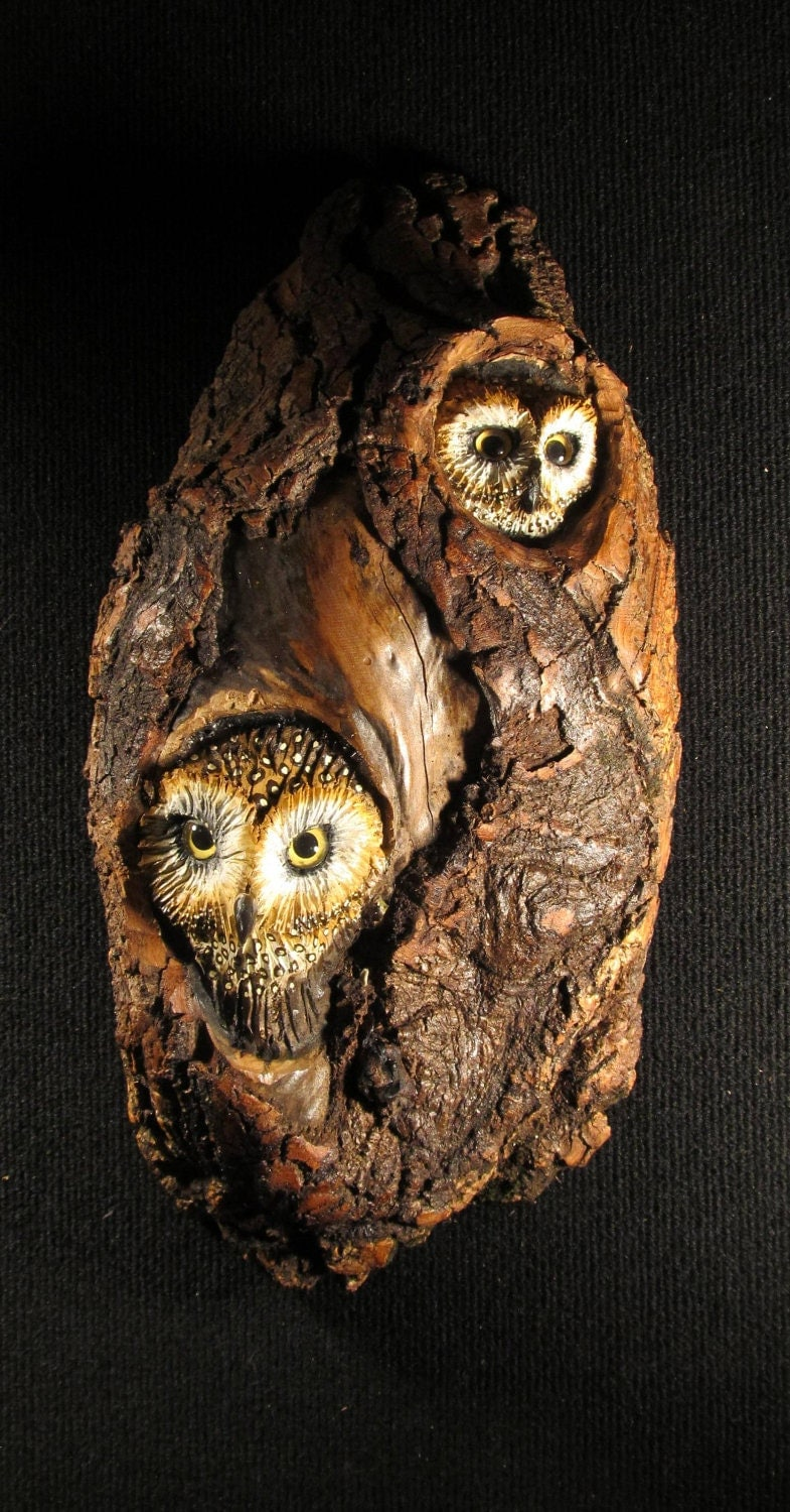 Wood carving owl by donnamariesart on etsy