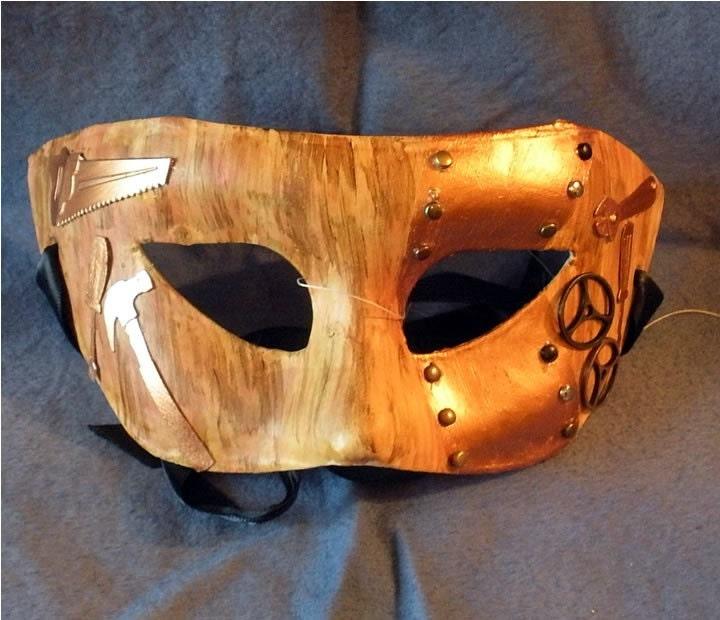 The Carpenter Steampunk Mask based on Alice in Wonderland