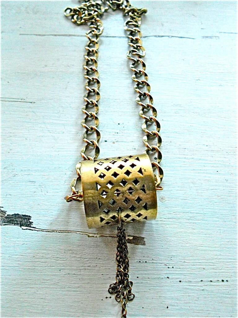 Dhol Brass Necklace